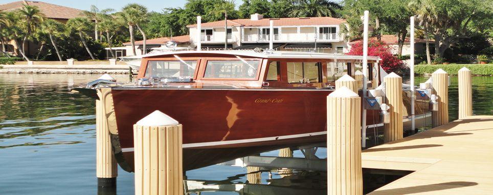 16000 lb beamless concept crs lift boat lift dock boat