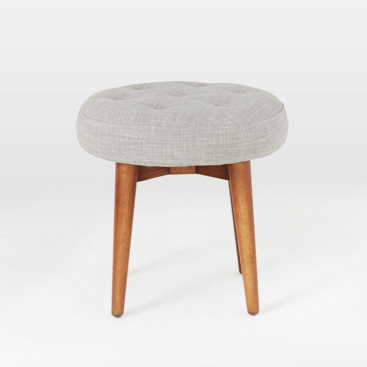 Mid Century Upholstered Stool Upholstered Stool Stool Wooden