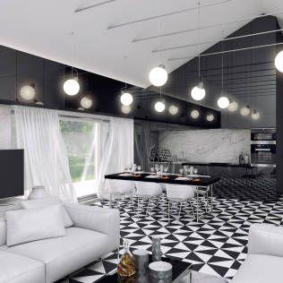 Schwarz Weiß Wohnzimmer Von INDEA