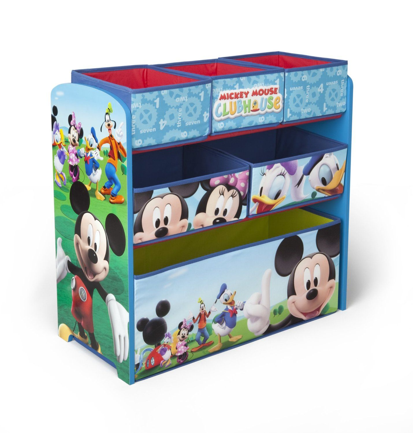 Mickey Mouse juguetero. Madera y tela. TB84847MM | Mickey mouse