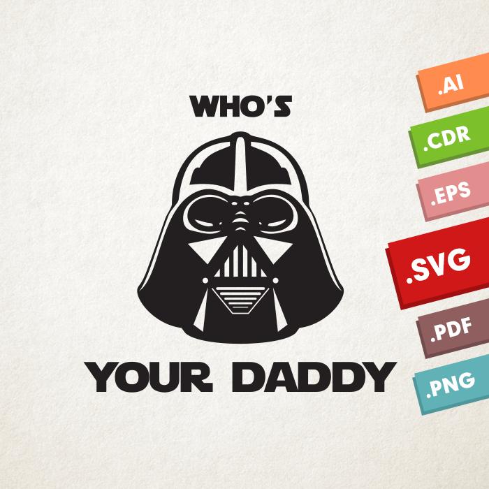 Darth Vader SVG, Vector files. Instant download design