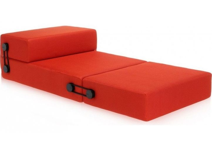 Leather Sleeper Sofa Kartell Trix Modern Sofa Bed by Piero Lissoni in Orange Absolute Home