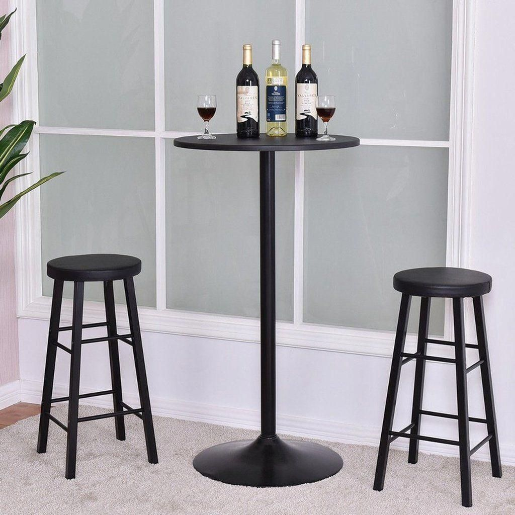 3 Pc Round Bar Table Set W 2 Stools Bistro Pub Kitchen Dining Furniture Bart Dining Furniture Makeover Outdoor Dining Furniture Contemporary Dining Furniture