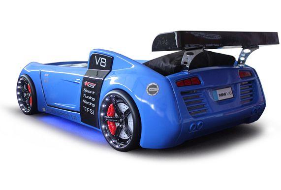 V8 Quattro Racer Car Bed Moveis De Fibra Cama Azul