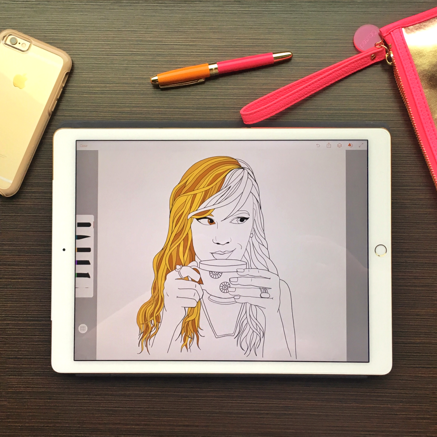 Free Coloring Pages | Ipad pro, Besties and Vector art