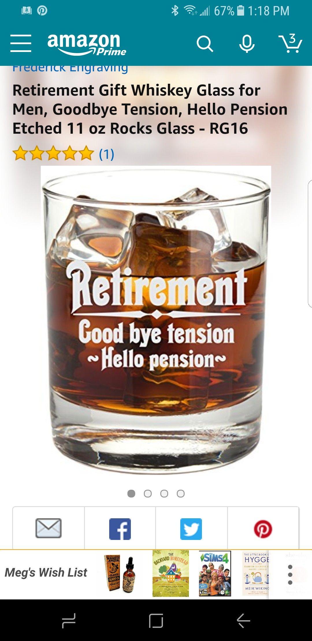 Retirement whiskey glass on amazon Military retirement