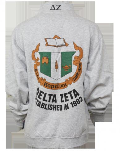 Delta Zeta Epsilon Tau Crest Half-Zip by Adam Block Design