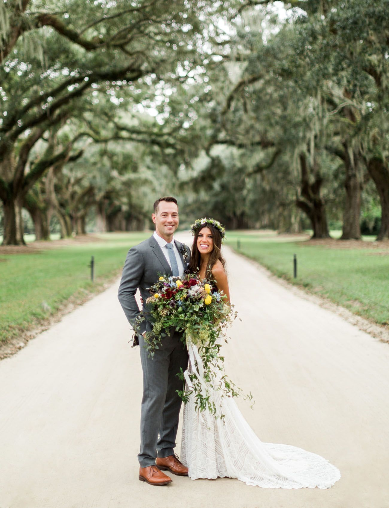 Romantic bohemian wedding featured on green wedding shoes