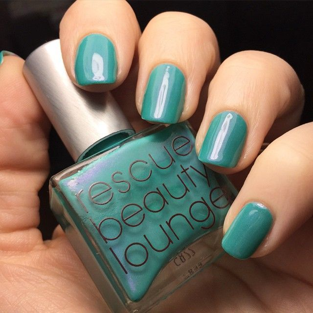 Birthday weekend mani: Decided to wear one of my splurge polishes for this weekend. :) This is the amazing Rescue Beauty Lounge - Aqua Lily. I'm in love with the ethereal pink glow, crisp aqua, and amazing formula.  #rbl #rescuebeautylounge #aqualily #notd #aqua #pinkglow #shimmer #crisp #splurgepolish #mani #swatch