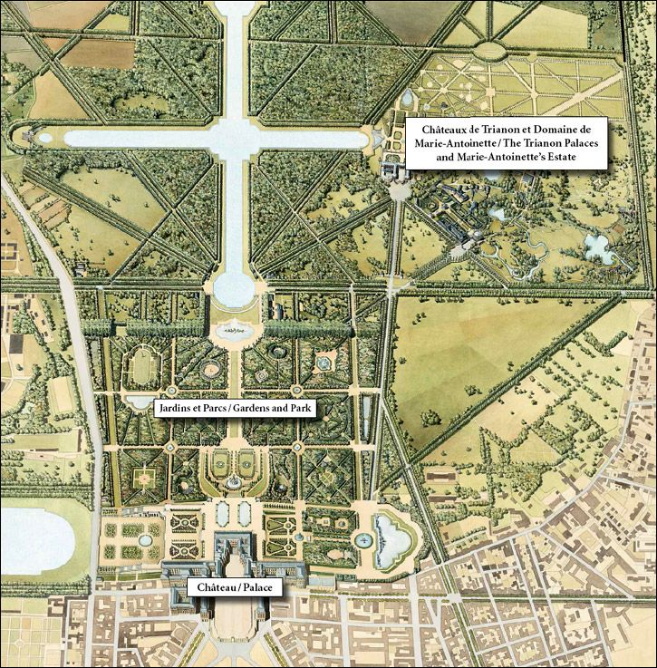 Image detail for map of the estate of the palace of for Garden design versailles