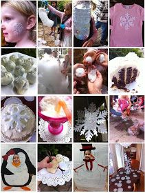 { This girl loves to talk }: Winter Wonderland Faux Snow Party really cute ideas