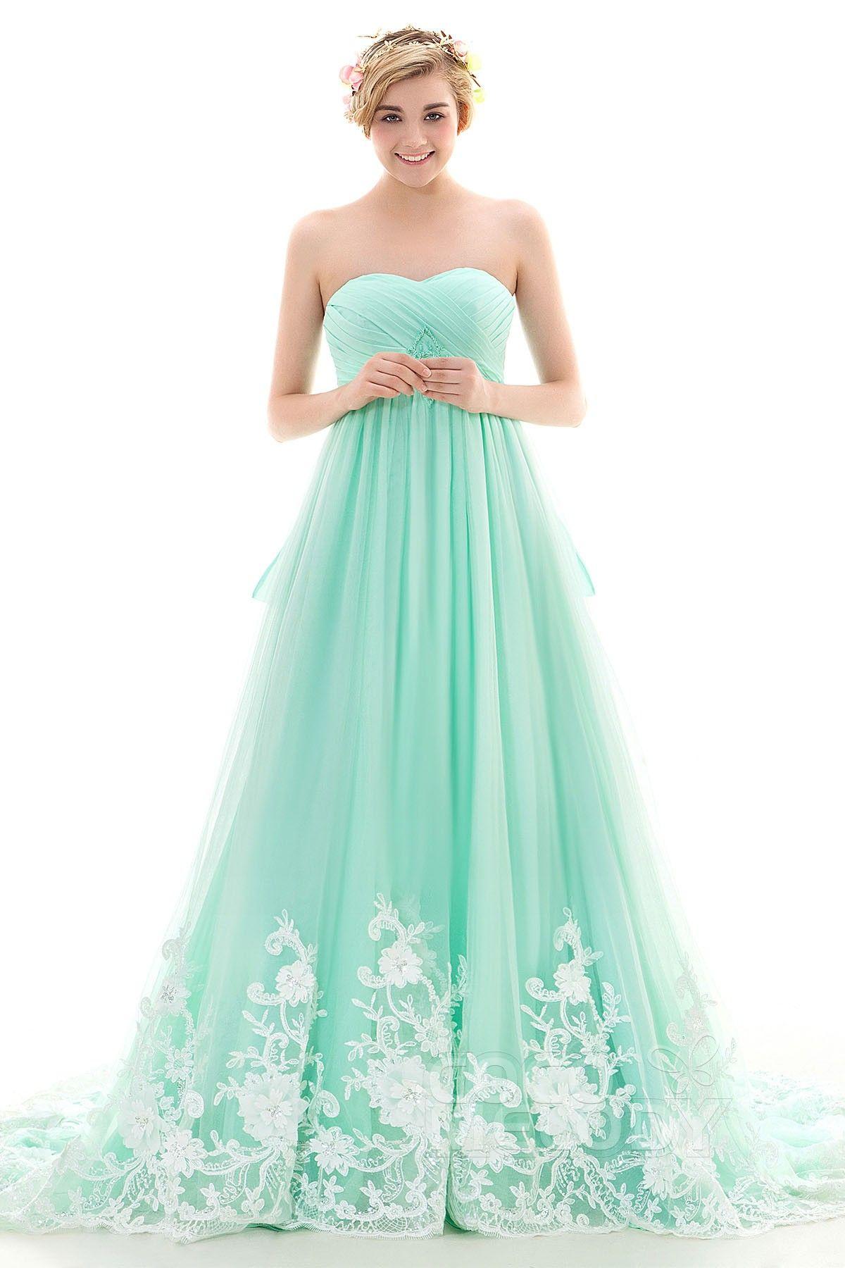Ld 4027 Beads Mint Green Color Dress