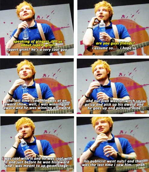 Ed Sheeran And His Friendship With Rupert Grint Ed Sheeran Music Ed Rupert Grint