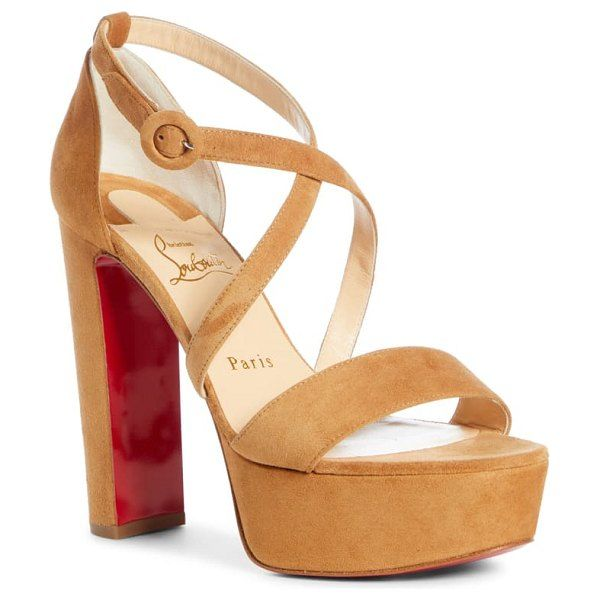 Altapoppins 150mm Noisette Suede   Christian louboutin