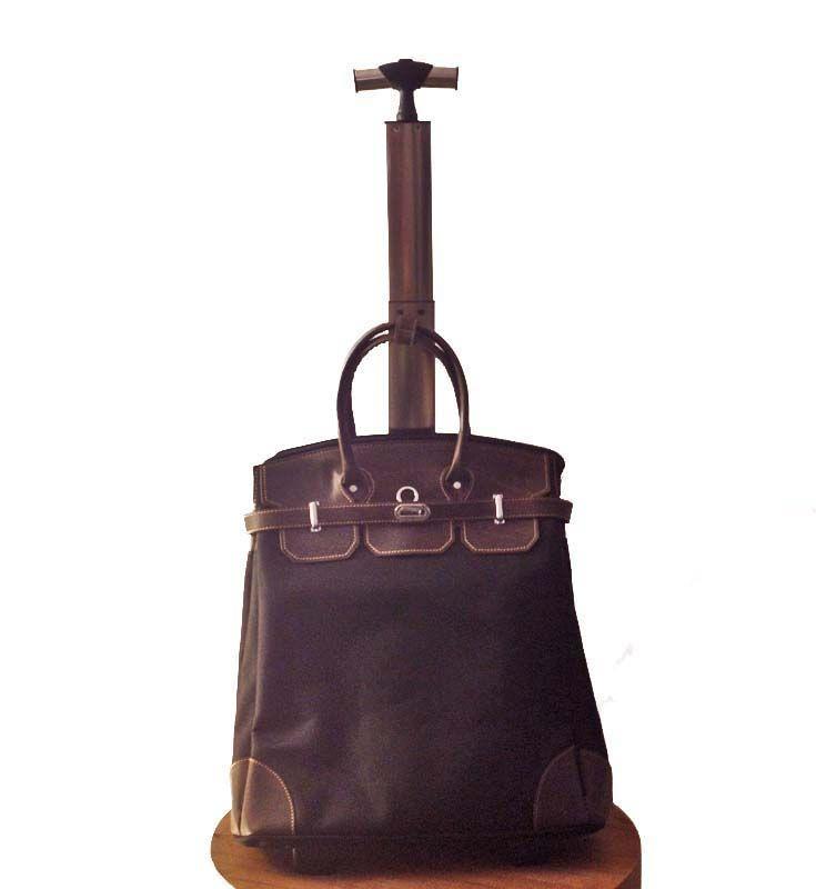 Luggage trolley.
