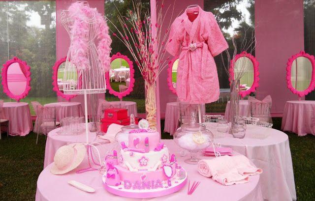 Fiesta infantil solo para ni as salon de belleza y spa spa party pinterest spa party spa - Decoracion infantil nina ...