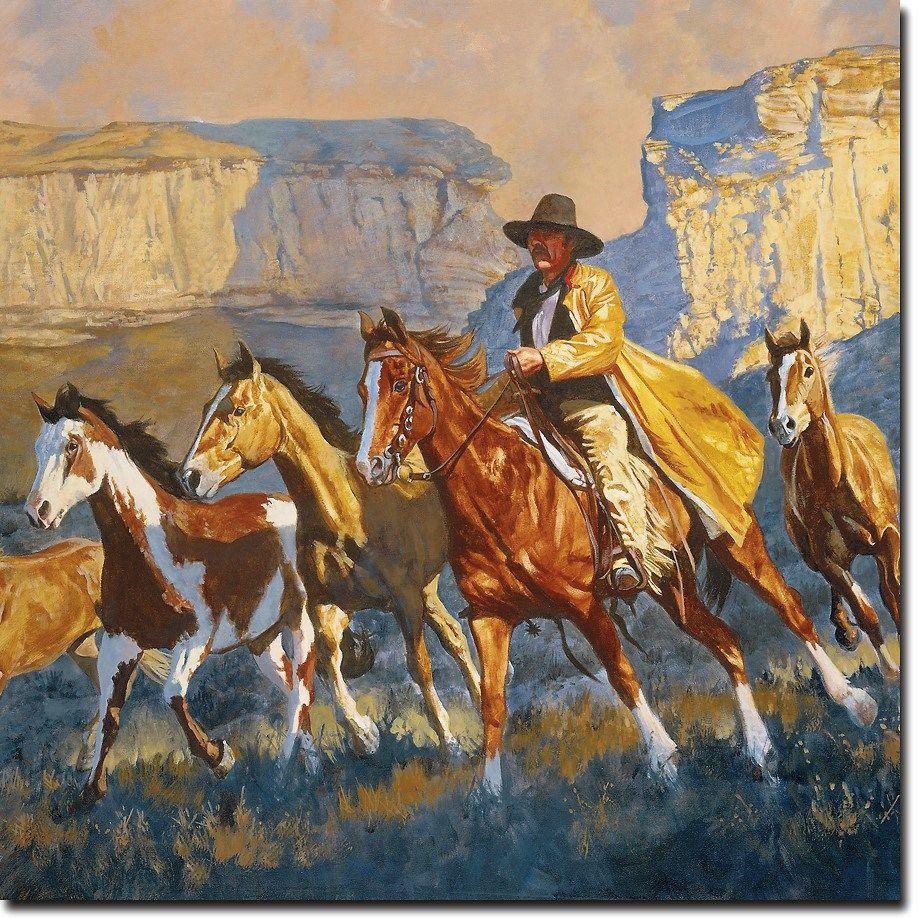Cowboy art western wall art wgi art gallery your