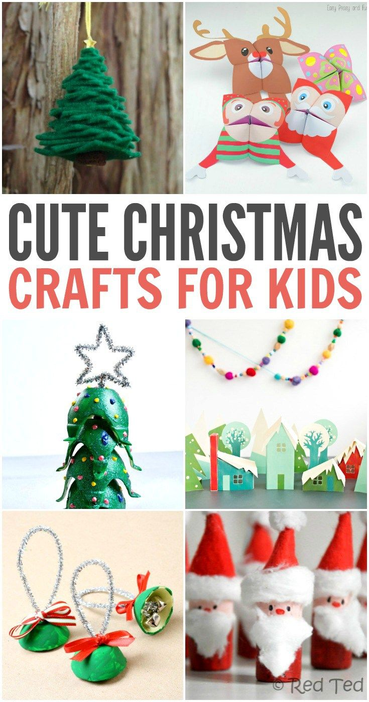 40 Cute Christmas Crafts for Kids | Craft, Holidays and Christmas fun
