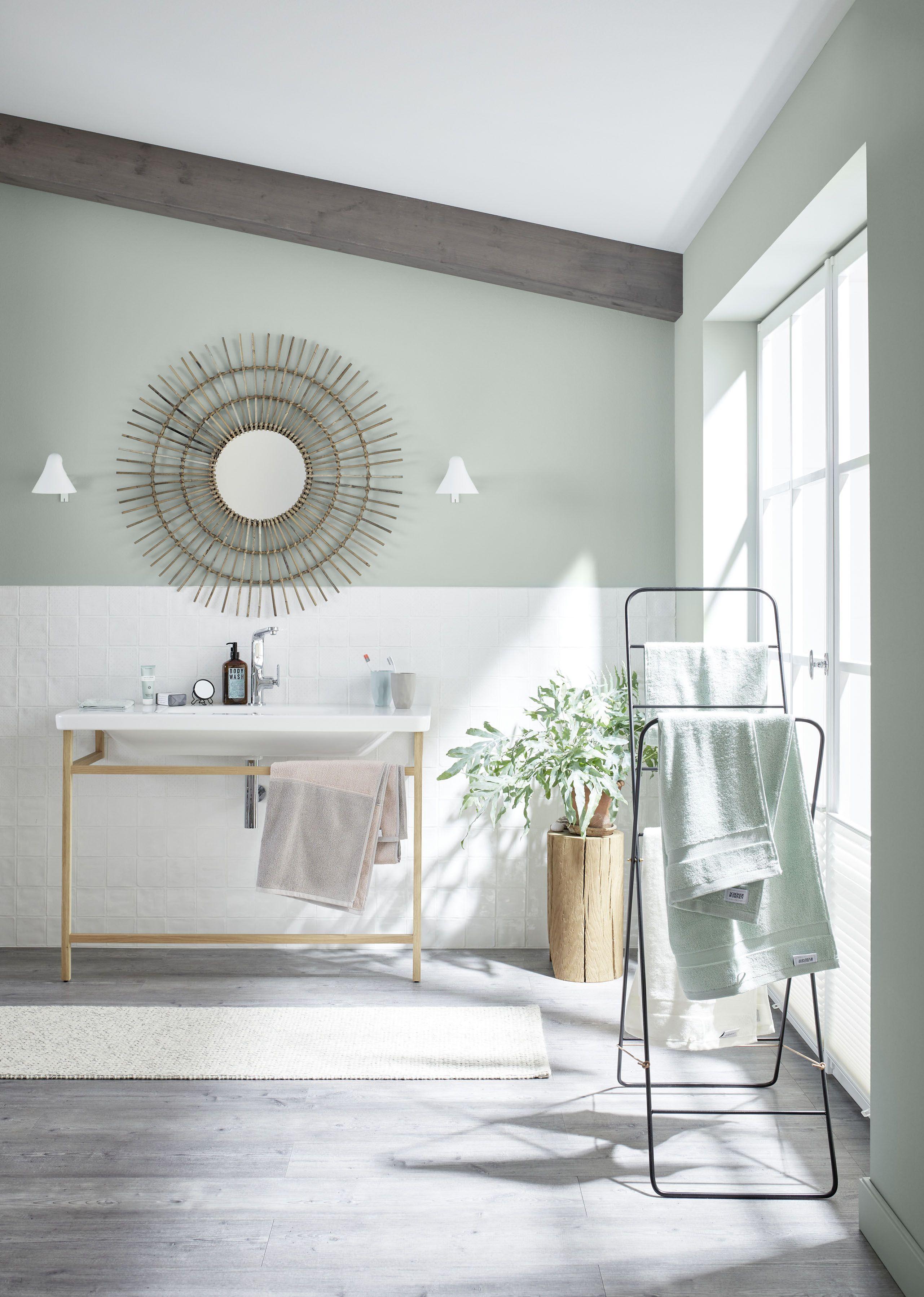 Wandfarbe Grun Salbeigrun Designfarbe Badezimmer Streichen Mit Schoner Wohnen Kollektion In 2020 Schoner Wohnen Wandfarbe Schoner Wohnen Bad Wohnzimmerfarbe