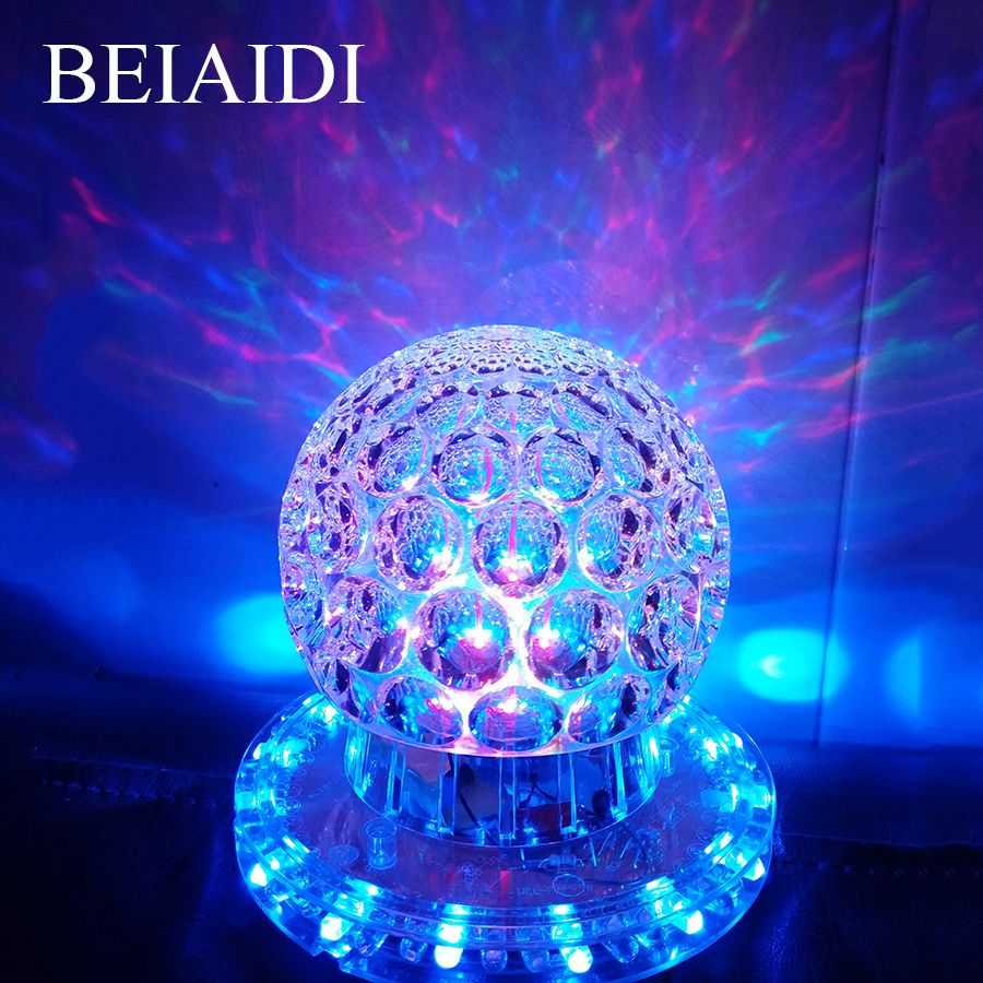Beiaidi Mini Rgb Crystal Magic Ball Led Stage Effect Lighting Lamp Bulb Laser Projector Party Disco Club Dj P Glow Party Commercial Lighting Crystal Magic Ball