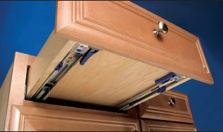 How To Remove Kitchen Cabinet Drawers With Bottom Channel Slide
