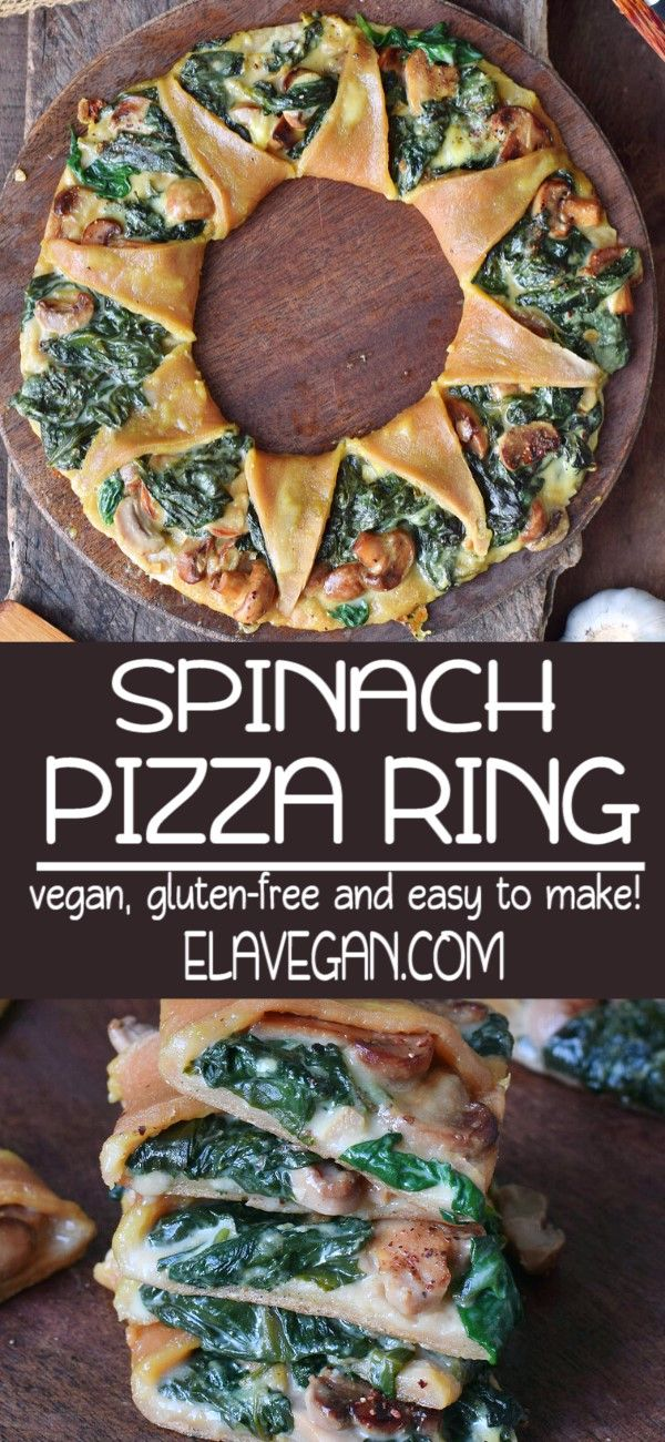Photo of Vegan Spinach Pizza With Mushrooms
