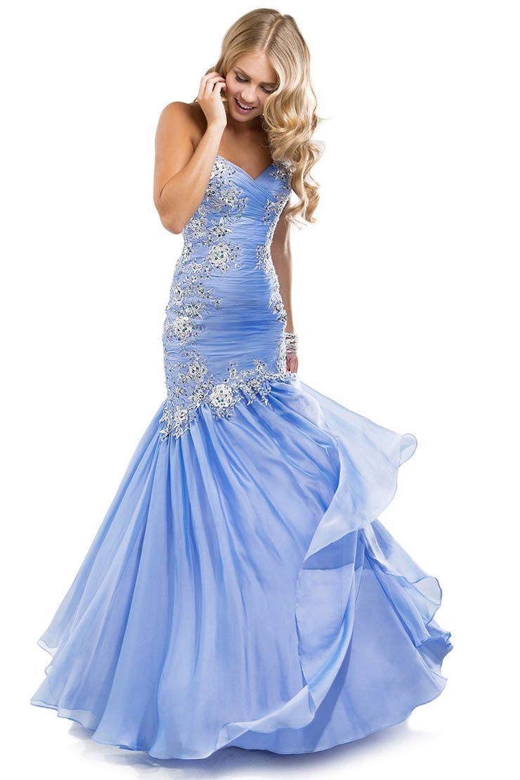 Trumpetmermaid sweetheart rhinestone prom dressesevening dresses