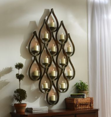 14-Pillar Teardrop Candle Holder | Kirklands | Candle ... on Large Wall Sconces Candle Holders Decorative id=39469