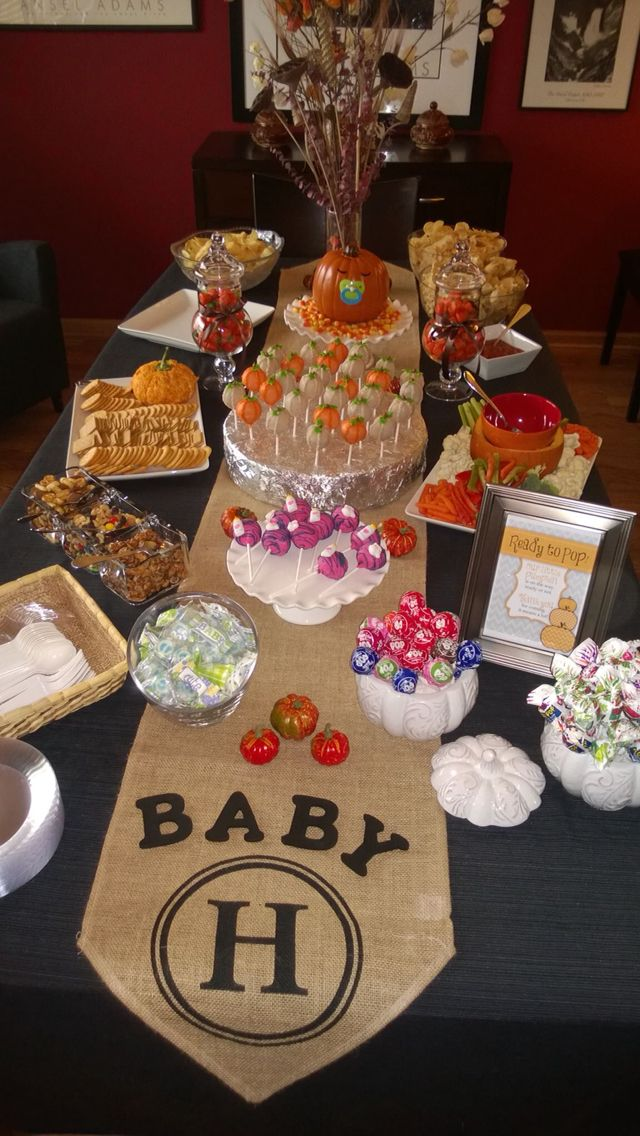 Little Pumpkin shower for Baby H!!!