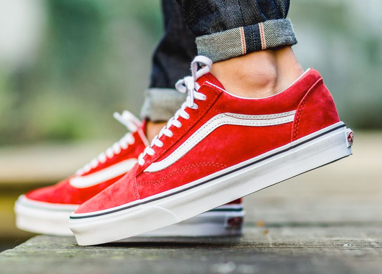 vans old skool red women
