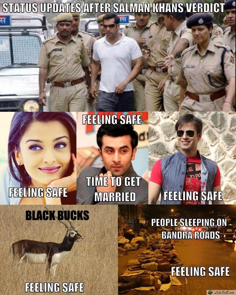 92a1dda0fb718 Status updates after Salman khan verdict  letztroll  bhai  salmankhan   bollywood  feelingsafe  salmankhanverdict  beingsalmankhan