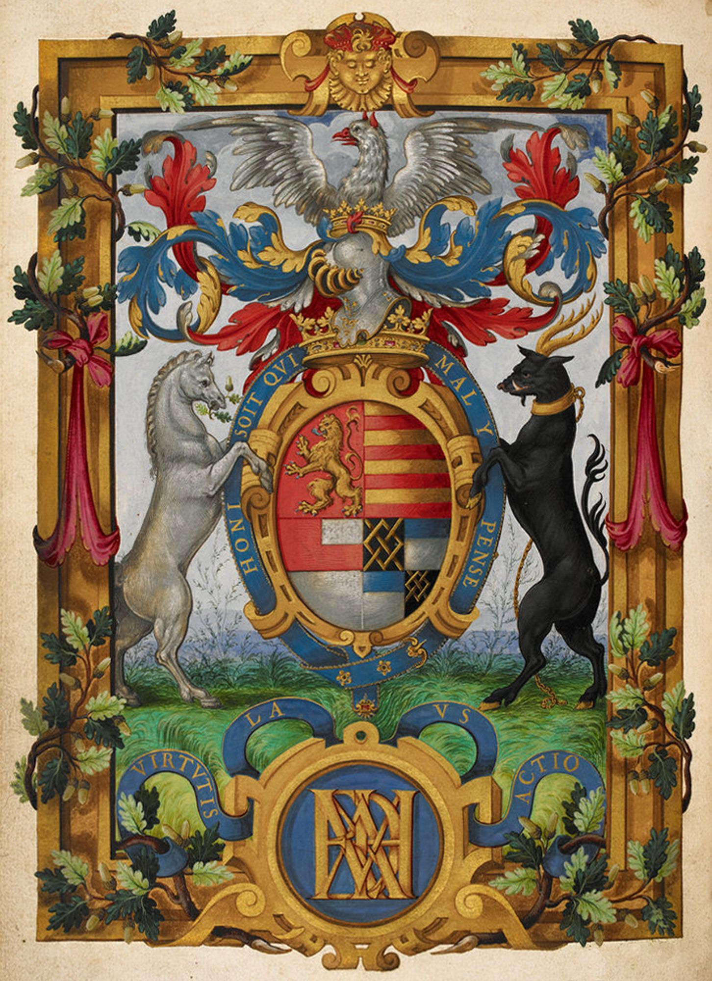 The arms of Henry Fitzalan, Earl of Arundel, from The Psalter of the Earl of Arundel (London, 1565).