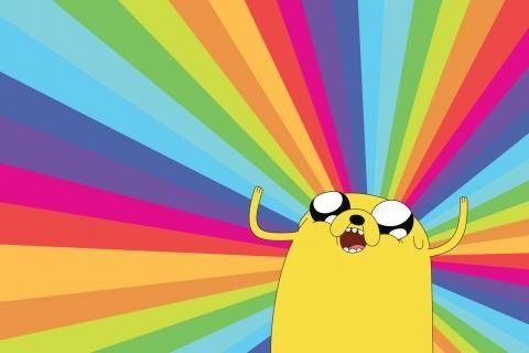 Adventure Time Jake los arco iris para perros Imagen