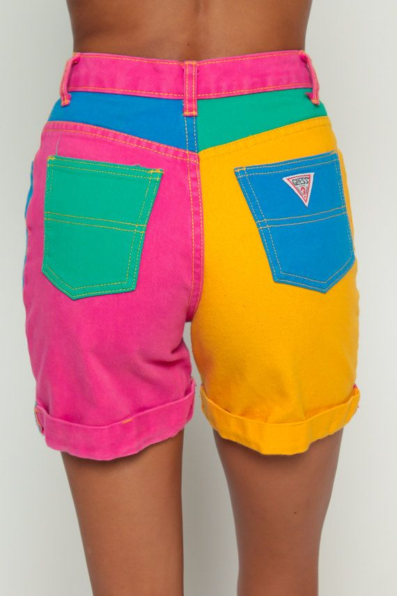 ce94dba50365 Image result for vintage shorts bright colors