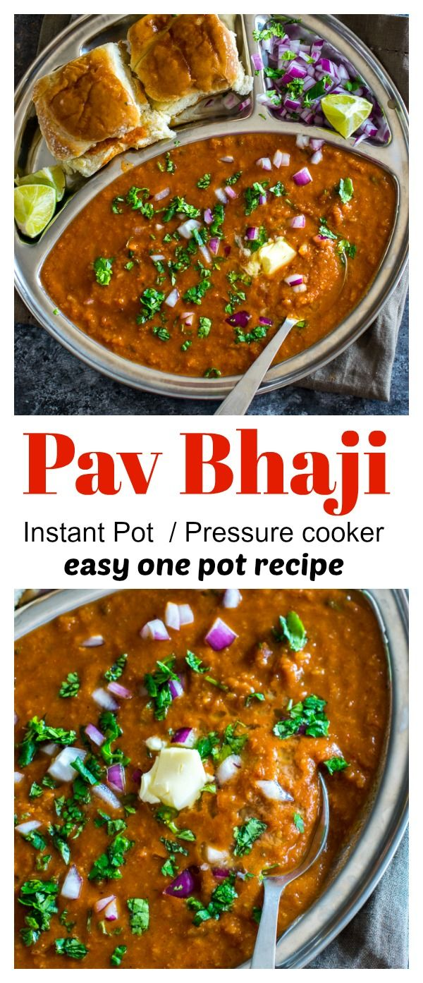 Make copycat authentic Mumbai Pav Bhaji at home with ease using pressure cooker or instant pot. Tastes just like the one you order at the restaurant. #indian #streetfood #pavbhaji #copycat  via @kkothari05 #indianfood