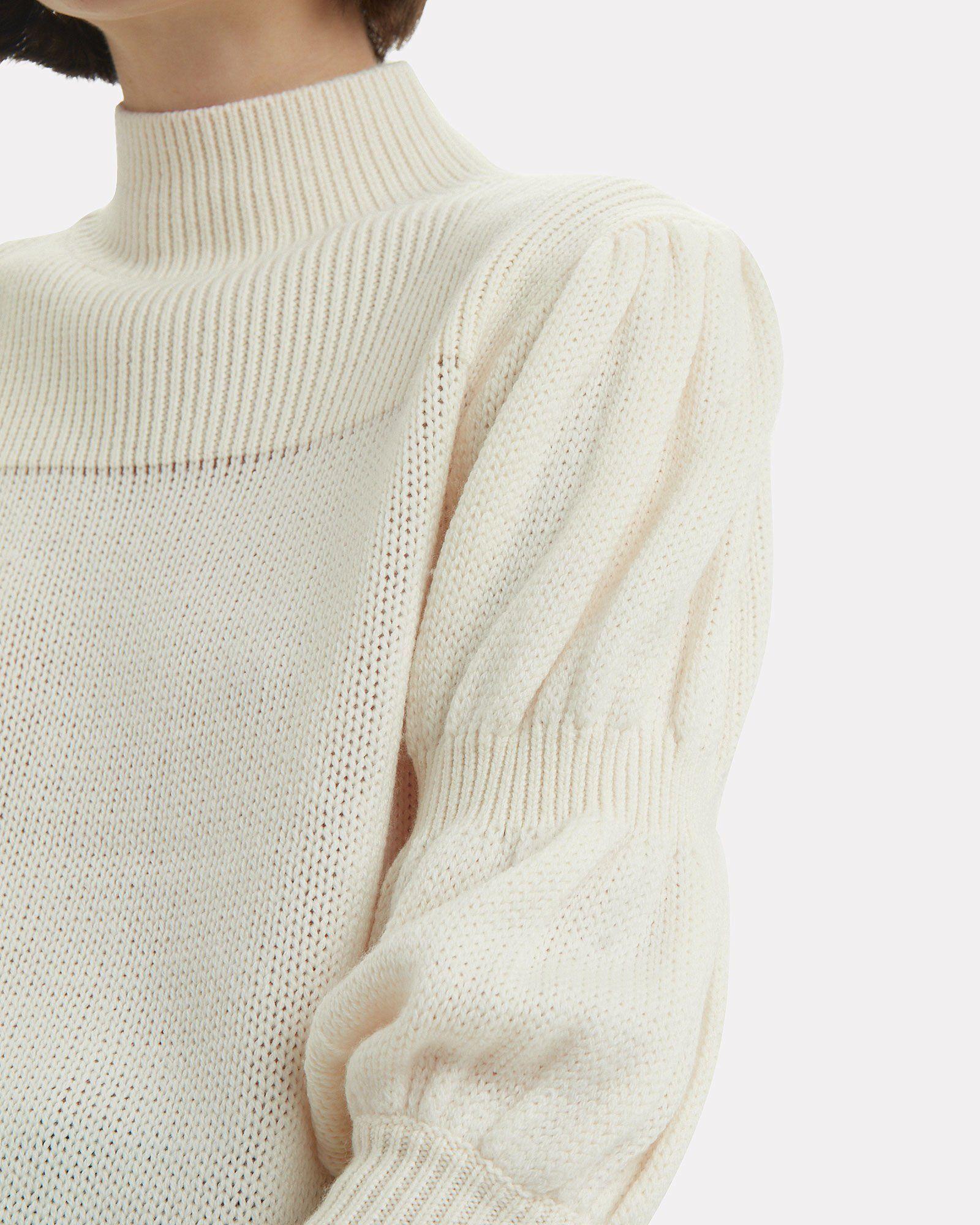 AGGEL KNITWEAR Womens Mohair Crop Pullover
