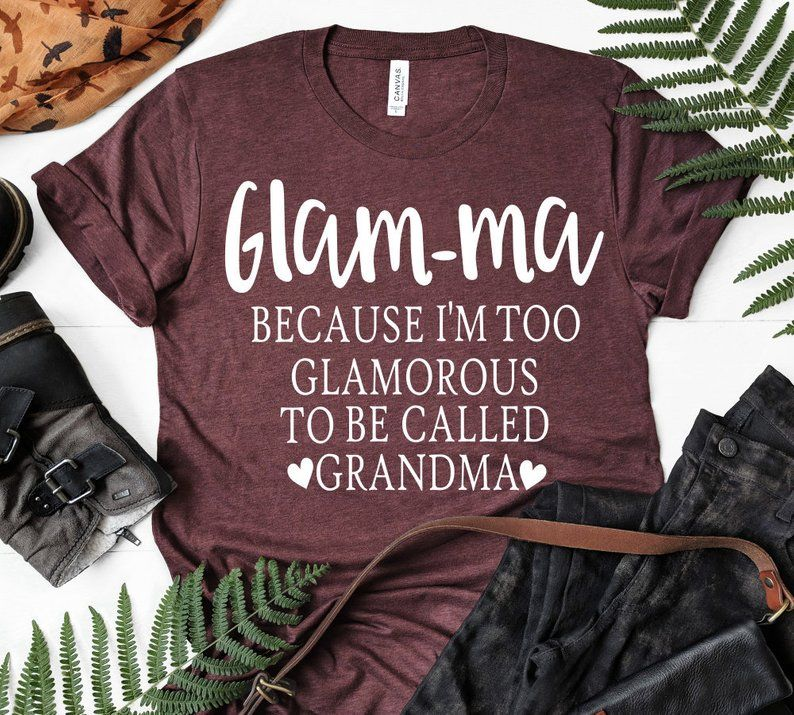 Glamma Svg Funny Svg Grandma Svg Funny Mom Designs Etsy