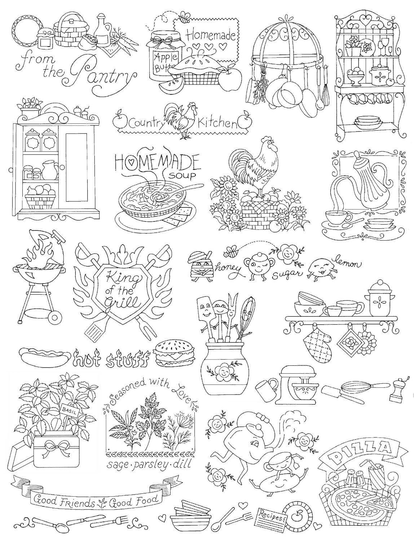 Amazon.com: Aunt Martha\'s Kitchen Designs Embroidery Transfer ...