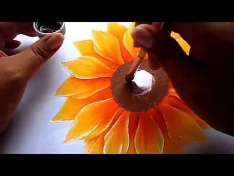 Pintura En Tela Como Pintar Facil Un Girasol Youtube Com