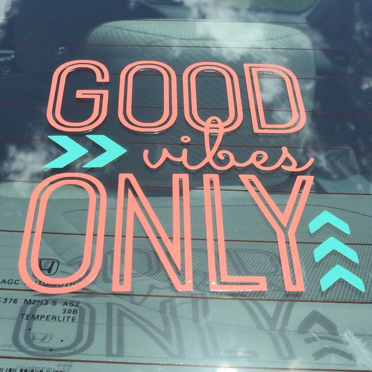 Good vibes only decal good vibes car decal good vibes yeti decal girly
