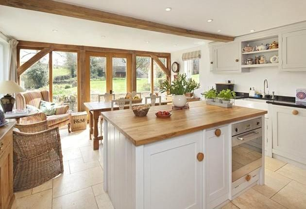 Kitchen Dining Area In Extension Oak Frame With Glazed Doors