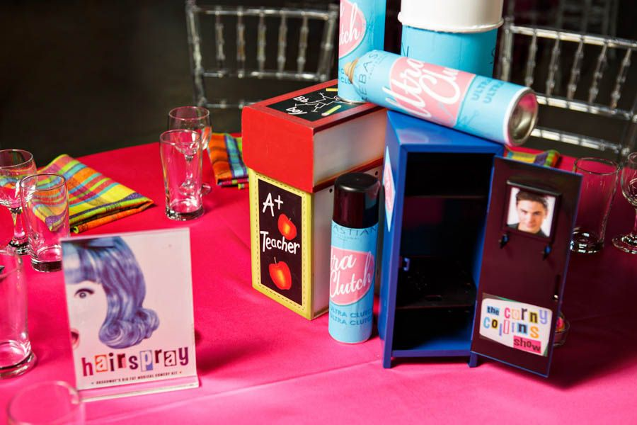 hairspray broadway musical themed wedding centerpiece