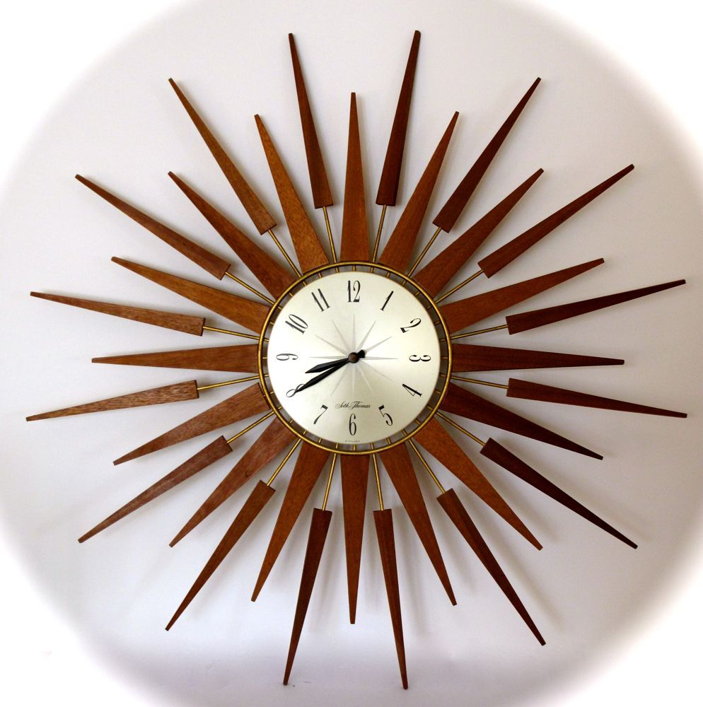Retro clocks stunning vintage retro eames era starburst sunburst retro clocks stunning vintage retro eames era starburst sunburst seth thomas clock amipublicfo Images
