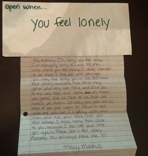 when you miss me Late daughter leaves behind letters to mom Open when you miss me Late daughter leaves behind letters to mom Open when you miss me Late daughter leaves be...