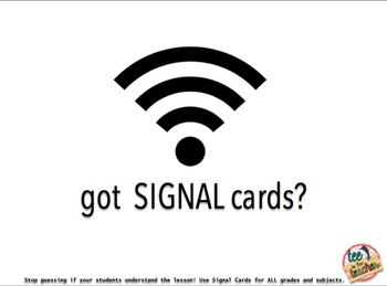 Check for Understanding Response Cards and Signal Cards