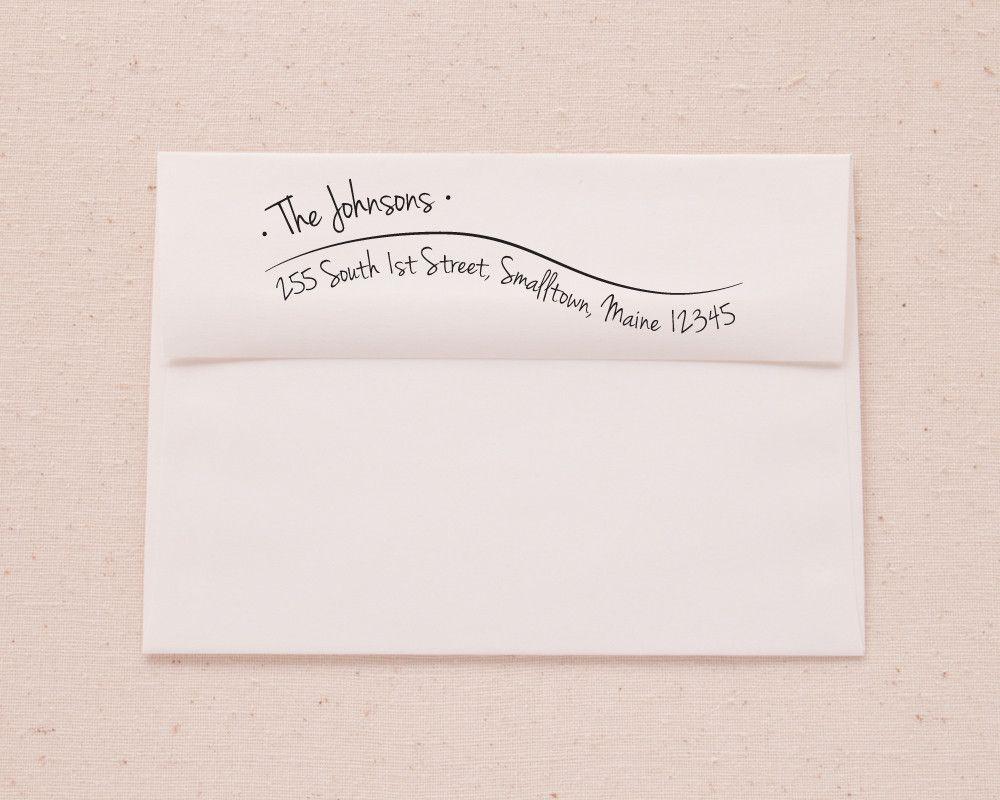 Hand Lettered Wave Return Address Printable Envelope Template from ...