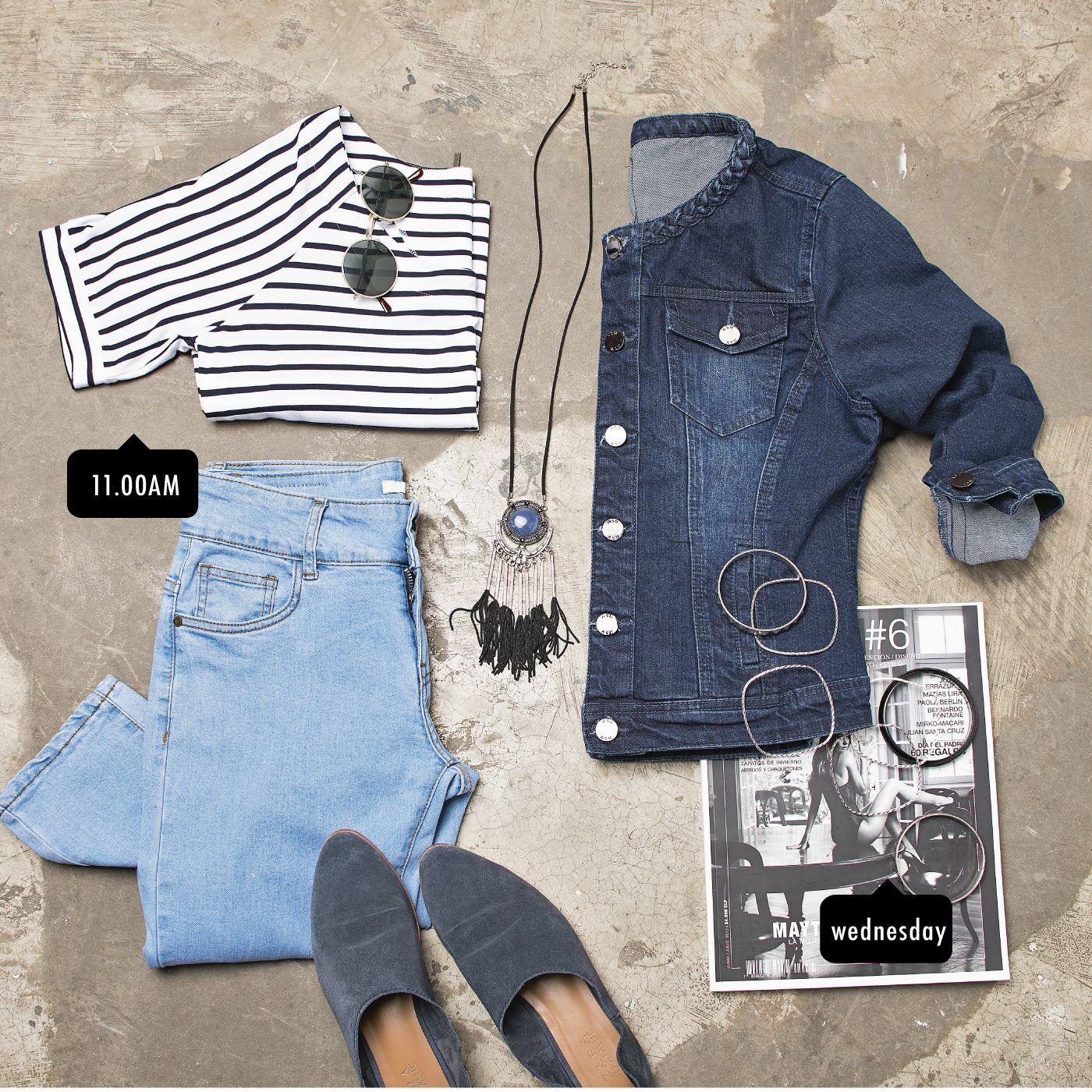 Rayas, Denim y los accesorios perfectos, son prendas ideales para transformarte en tendencia esta temporada.
