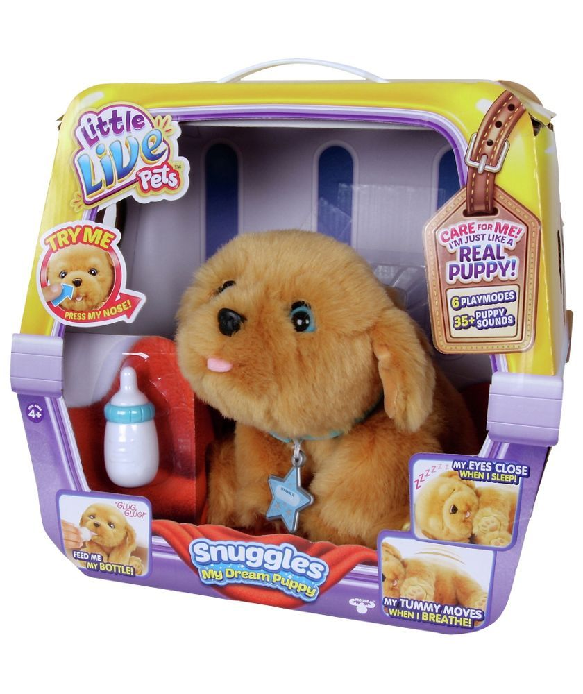 Buy Little Live Pets Snuggles My Dream Puppy Interactive Toy At Argos Co Uk Your Online Shop For Animal Playse Little Live Pets Puppy Soft Toy Puppy Snuggles