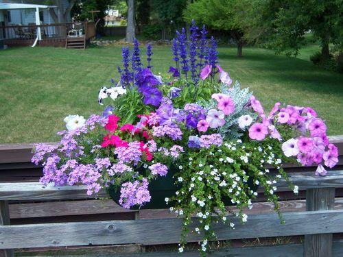 Deck Flower Box Idea Railing Flower Boxes Container Flowers
