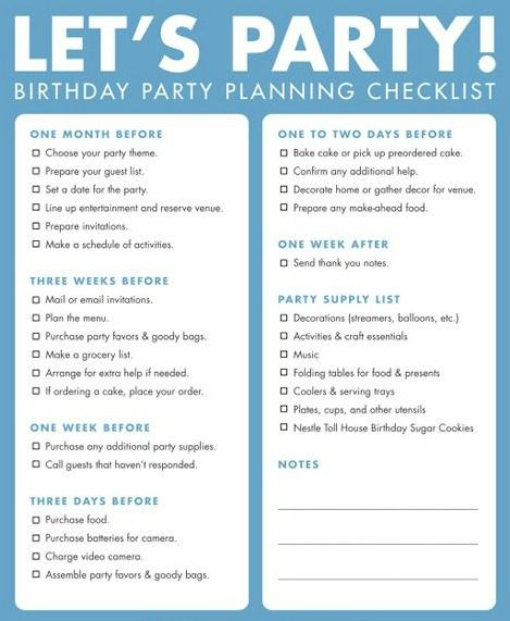 Custom Party Decorations Free Party Printable Birthday Party Planning Checklist Party Planning Checklist Birthday Party Checklist